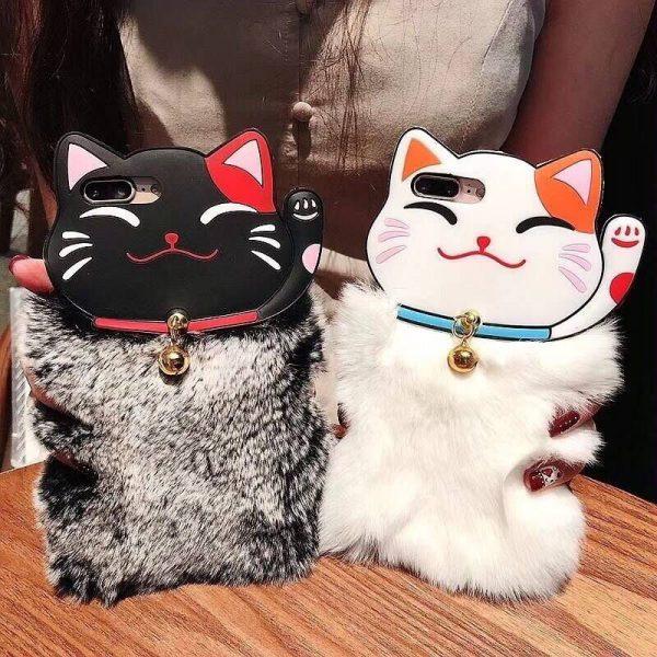 Lovely Warm Maneki Neko Lucky Cat Rabbit Iphone Case