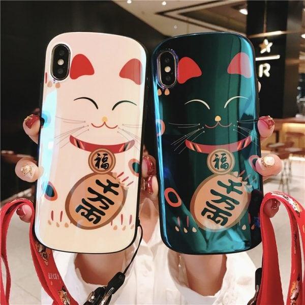 Maneki Neko Lucky Cat Hot 2019 Iphone Case