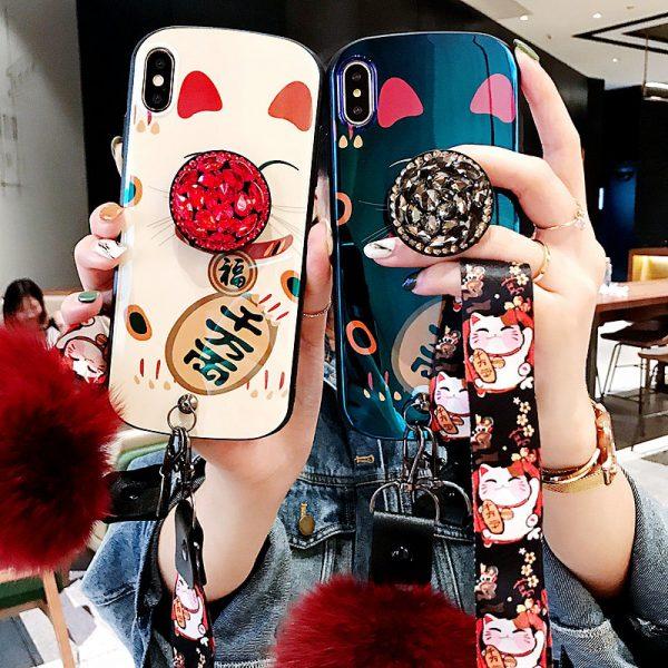 Luxury Fortune Cat Maneki Neko Iphone Case