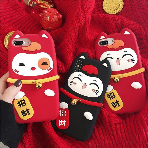 Lucky Cat Maneki Neko Adorable Iphone case