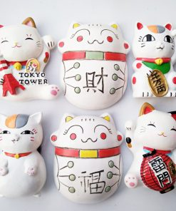 Maneki Neko Lucky Cat Fridge Magnet