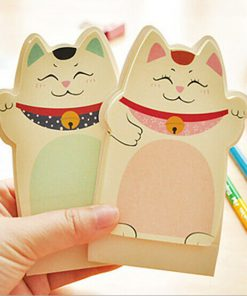1Pcs New Lucky Cat Maneki Neko Sticky Notes