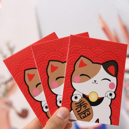 3Pcs Maneki Neko Lucky Cat Mini Memo Pad