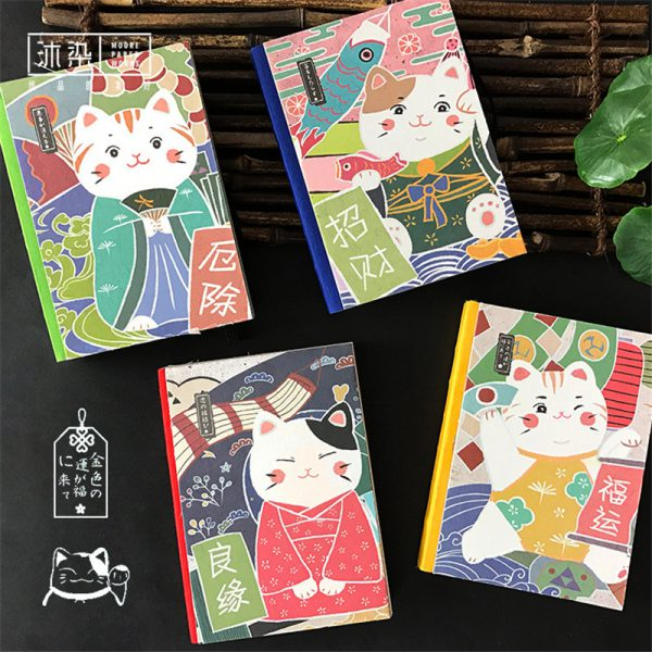 New Japanese Maneki Neko Lucky Cat Diary Book