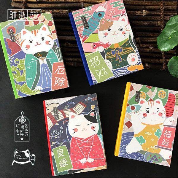 New Japanese Maneki Neko Lucky Cat Diary Book