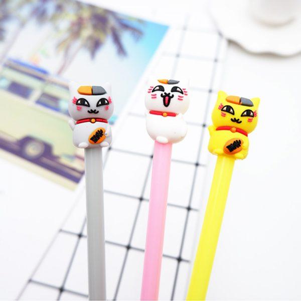 3pcs/lot Japan Maneki Neko Lucky Cat Gel Pens