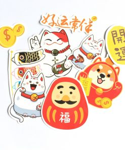 Maneki Neko Lucky Cat DIY Decorative Stickers