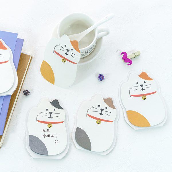 Maneki Neko Lucky Cat Memo Pad Sticky Notes