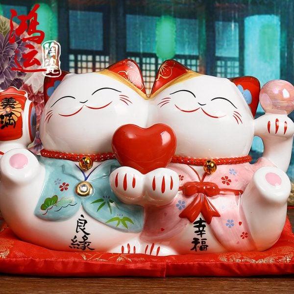 Couple Maneki Neko Fortune Cats