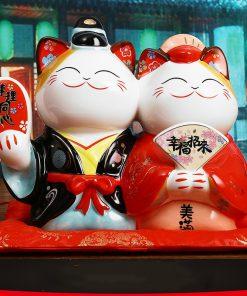 Couple Maneki Neko Lucky Cats