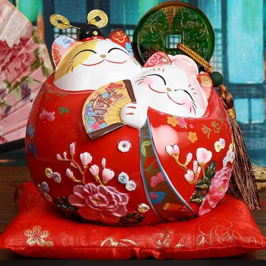 2019 Couple Maneki Neko Fortune Cats