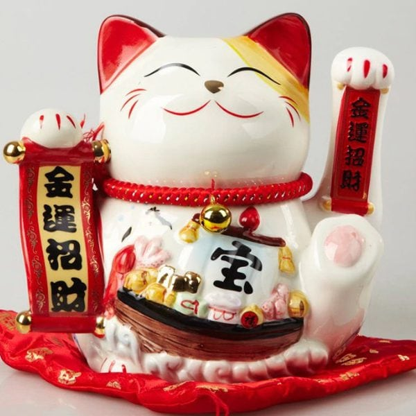 9 inch Hand Waving Maneki Neko Lucky Cat