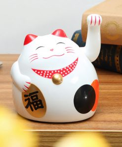 Adorable Maneki Neko Fortune Cat Waving Hand