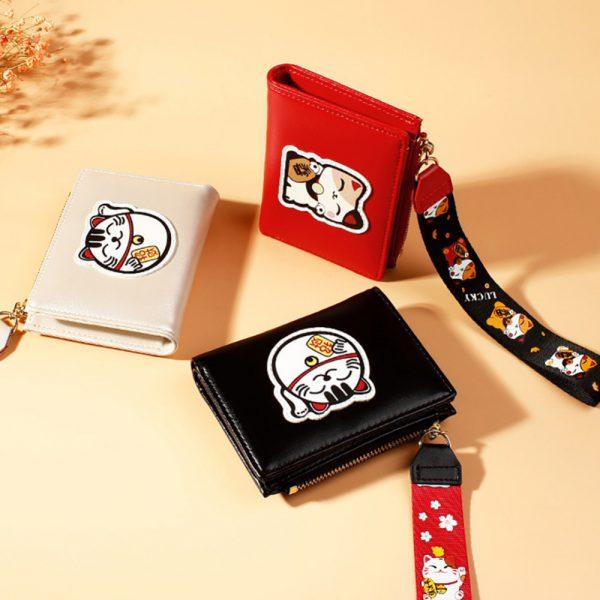 New Maneki Neko Buckle Multi-Card Wallets