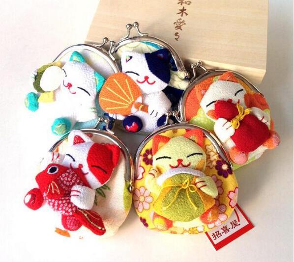 Cute Japan Style Maneki Neko Wallets