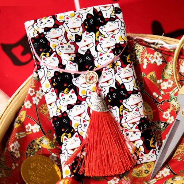Japanese Style Maneki Neko Lucky Cats Wallets