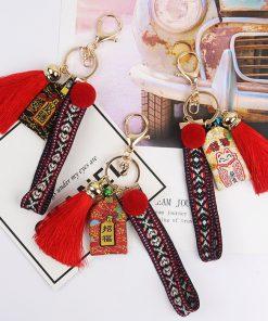 Maneki Neko Good-luck Blessing Keychains