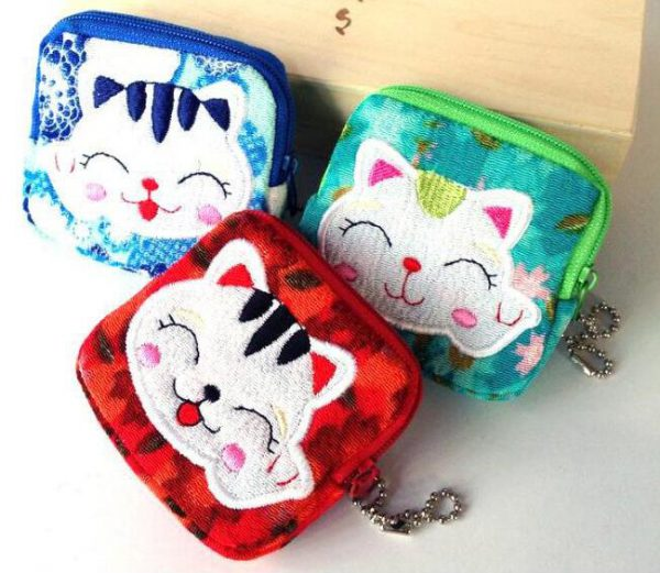 10 Styles Maneki Neko Lucky Cat Wallets