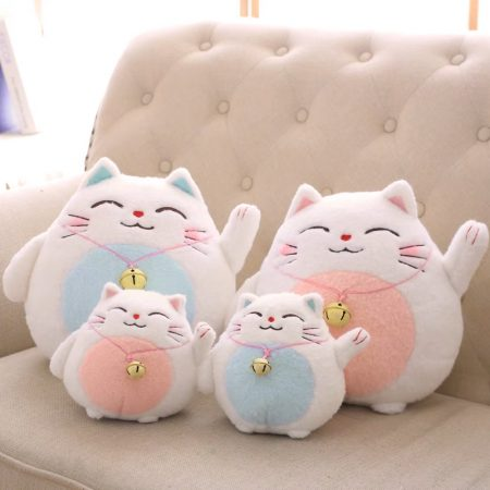 Janpan Fortune Cat Maneki Neko Cute Soft Plush