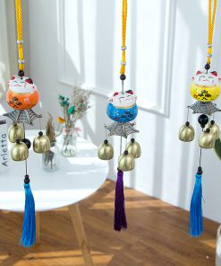 Japanese Style Creative Maneki NekoLucky Cat Windchimes