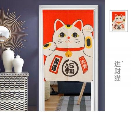 Best Seller Maneki Neko Lucky Cat Door-Curtain