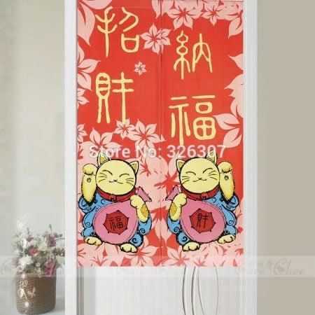 Hot 2019 Chinese Fortune Cat Door-Curtain