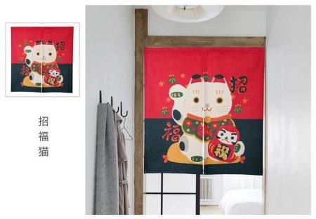 New Chinese Fortune Cat 2019 Door-Curtain