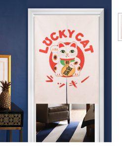 Chinese Fortune Cat 2019 Door-Curtain