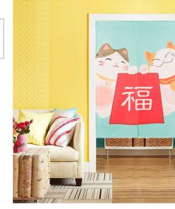 Japan style Chinese Lucky Cat Hanging Door