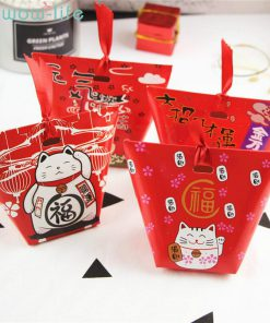 6pcs Chinese Style Lucky Cat Gift Box