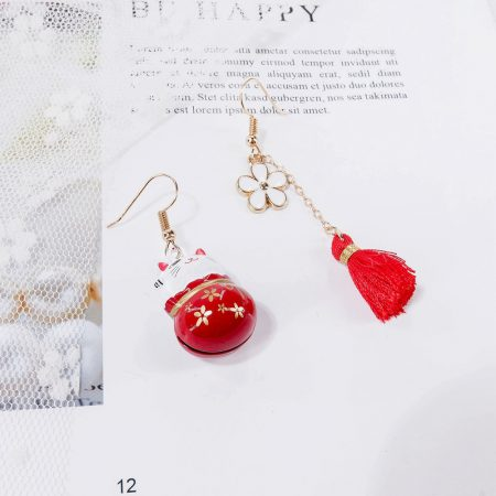 Creative Maneki Neko Fortune Cat Earrings