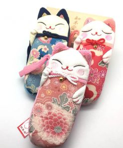 Lucky Cat Fabric Phone Bags