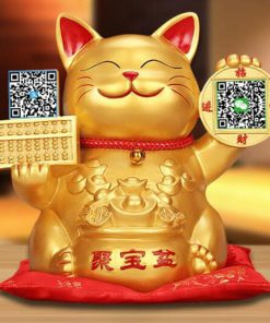 Hot Selling Maneki Neko Lucky Cat With QR Code Decoration