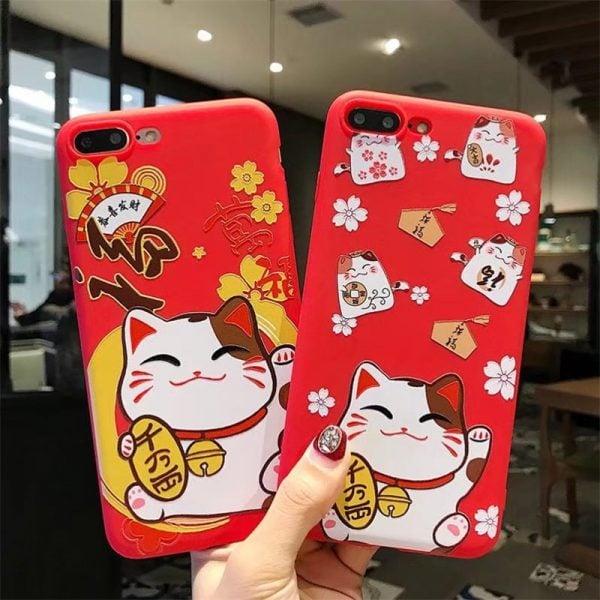 Maneki Neko Fengshui Cat 2019 Iphone Cases