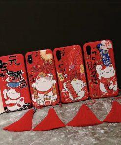 Fengshui Maneki Neko Fortune Cat Iphone Cases