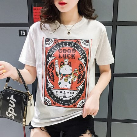 Good Luck Maneki Neko Fortune Cat T-Shirt
