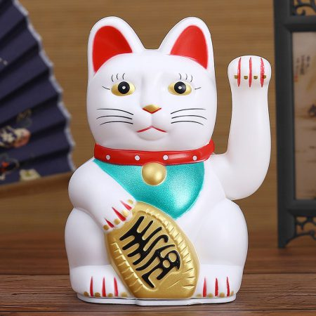 Full Color Chinese Feng Shui Maneki Neko Waving Cat