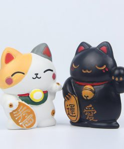 Maneki Neko Fortune Cat Magnet Refrigerator Stickers