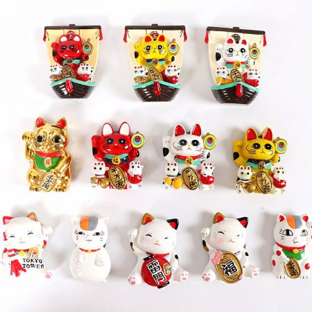 Maneki Neko Cat 3D Fridge Magnets