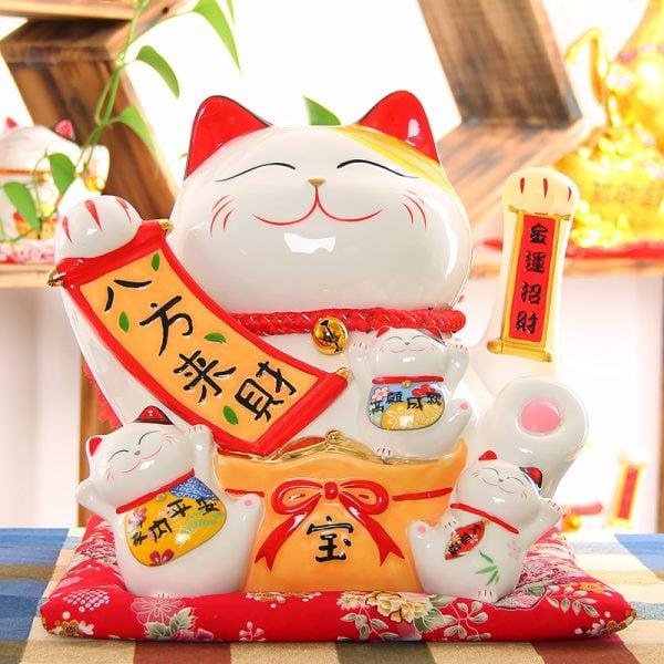 Large Size Maneki Neko Lucky Cat 2019